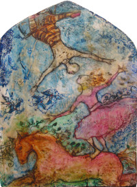 l-ross-gallery_mary-cour-burrows_birds-and-the-bees-in-the-circus_26x17x6