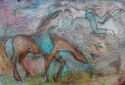 l-ross-gallery_mary-cour-burrows_two-lovers-and-a-horse_24x36