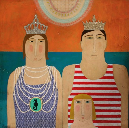 l-ross-gallery_leslie-barron_king-and-queen-in-the-sea_24x24