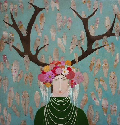 l-ross-gallery_leslie-barron_woman-with-headdress_44x46