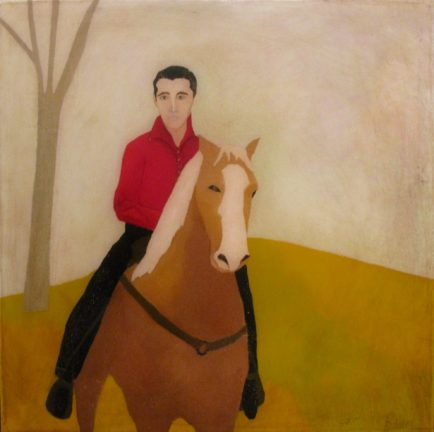 l-ross-gallery_leslie-barron_elvis-riding-rising-sun_20x20