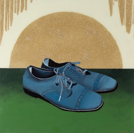 l-ross-gallery_megan-hurdle_blue-suede-shoes_36x36